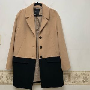 Talbots Color Block Pea Coat